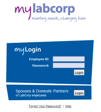mylabcorp sign in login process