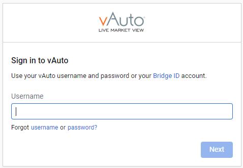 vauto dealer login step 1