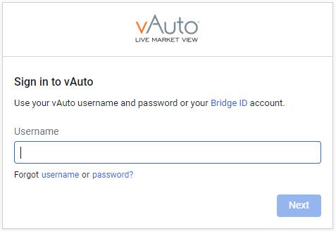 vauto username recovery