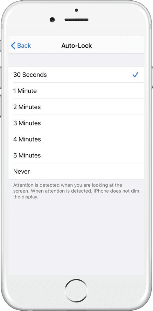 Set Auto Lock Screen Time on iPhone