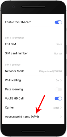 Access Point Name Settings in Android