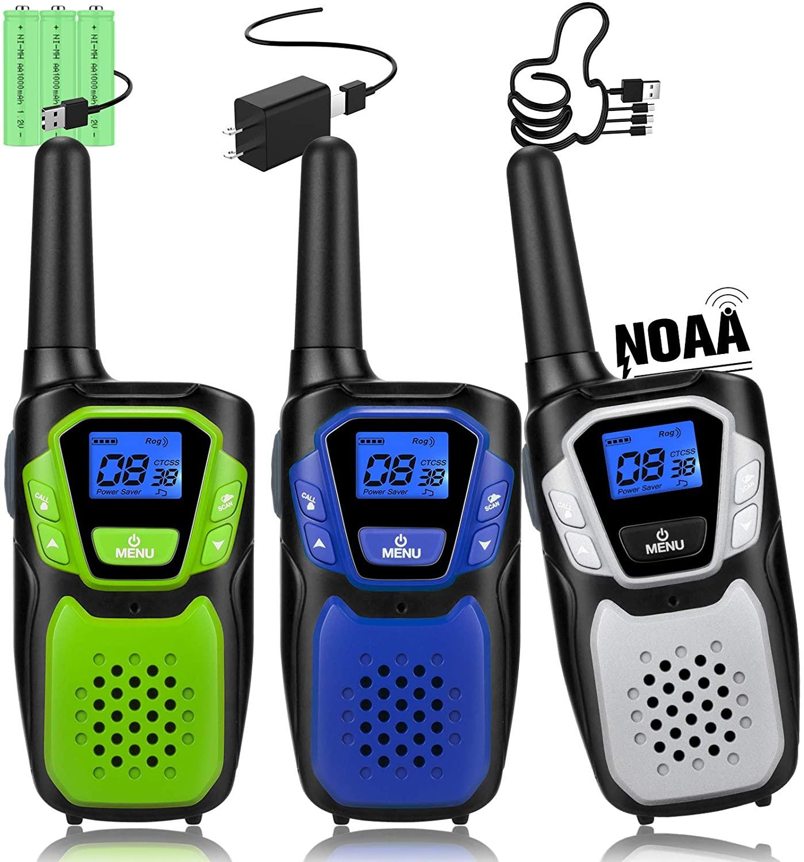 Topsung Rechargeable Handheld Walkie Talkies 3 Pack