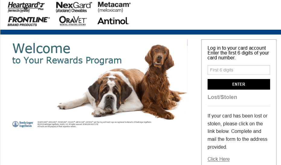 BI Pet Rebates Card Activation guide