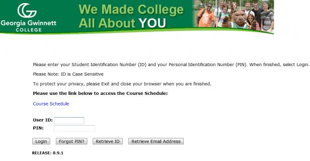 banner ggc edu login