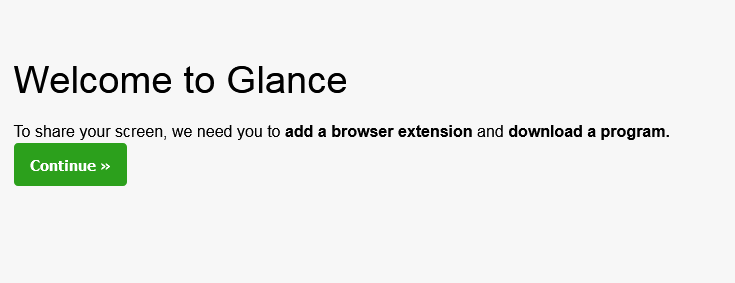 Glance Remote Access Software Browser Extension OR Download a Program