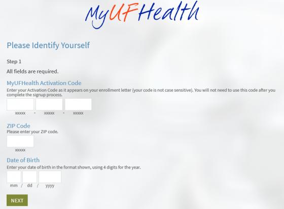 myufhealth / mychart registration process