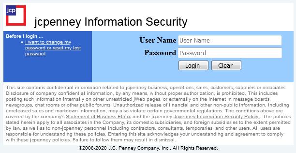 jc penney associate kiosk forgot password guide