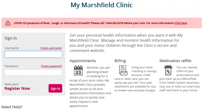 mymarshfieldclinic login steps