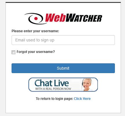 webwatcher forgot / retrieve password