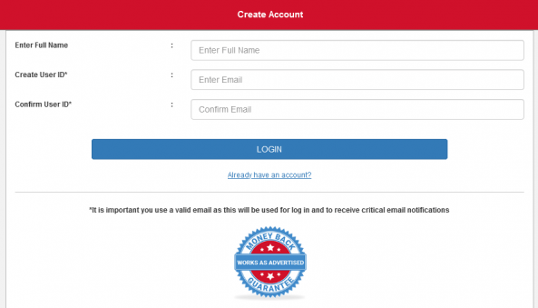 webwatcher signup process