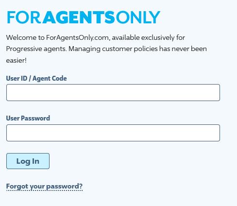 foragentsonly signin login