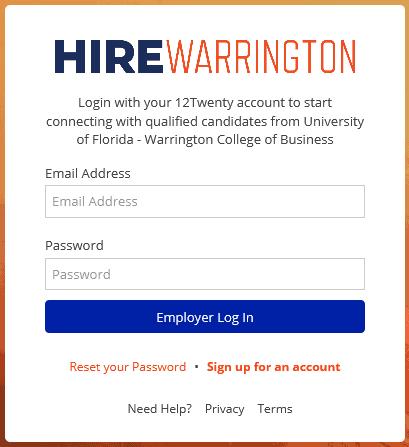 hirewarrington employer login