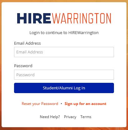 hirewarrington student login