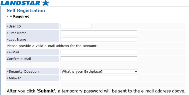 landstar self registration / create an account guide