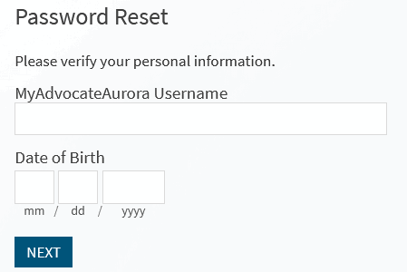 myaurora reset password guide