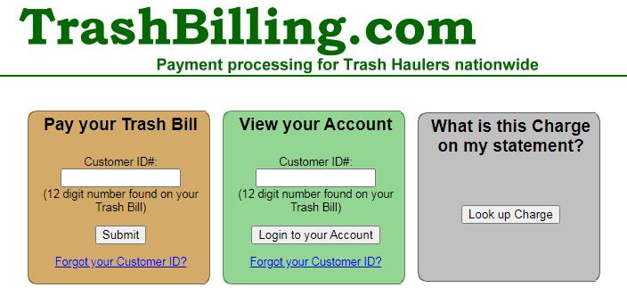trashbilling login guide to pay trash bills online