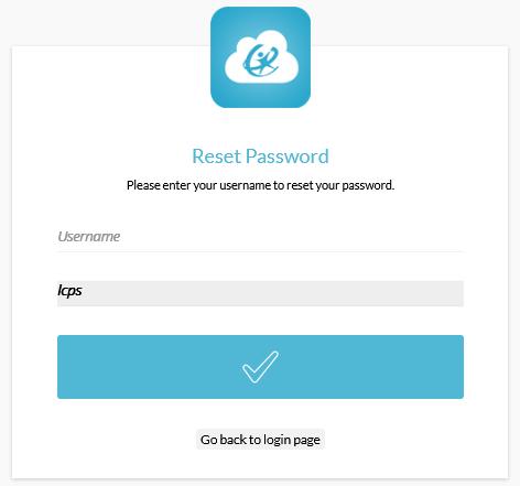 LCPSGo retrieve password