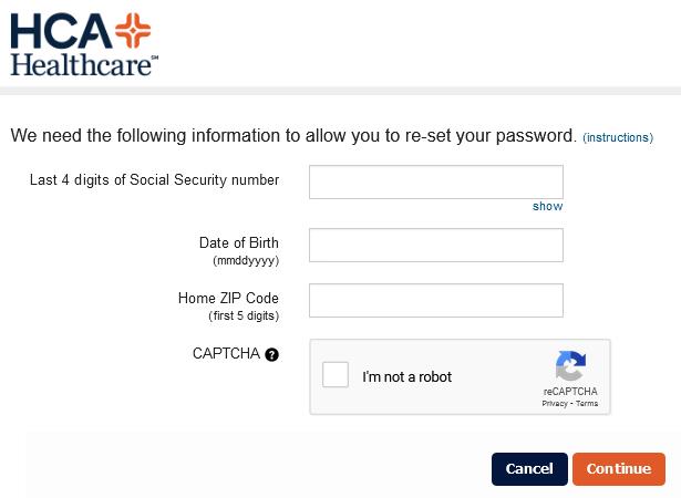 hca rewards password guide