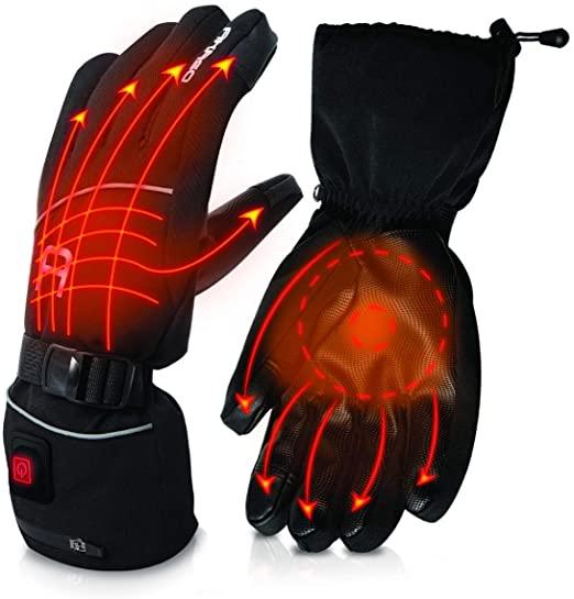 AKASO Heated Ski Gloves