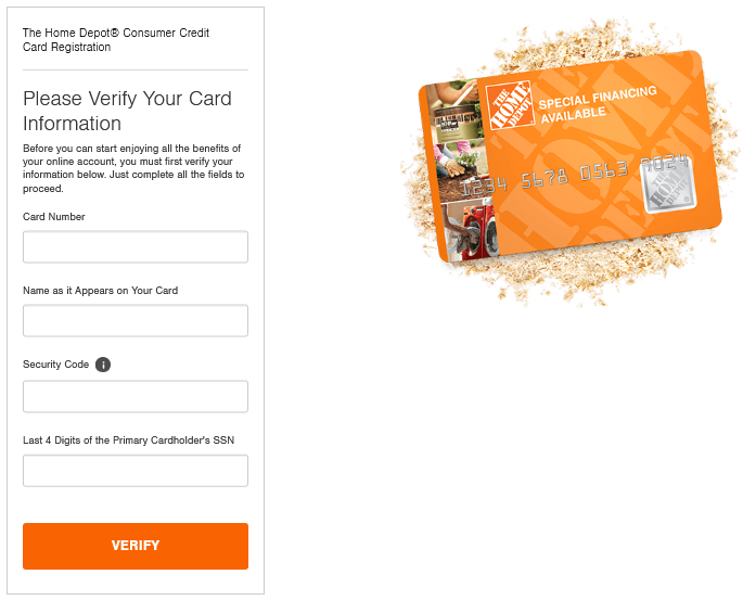 homedepot mycard registration process