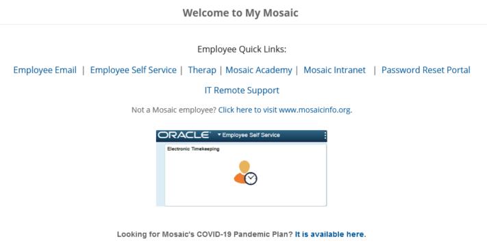 mosaic employee login guide