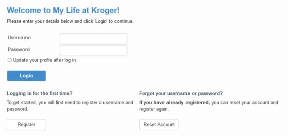 MyLife@Kroger Spouse or Domestic Partner Login