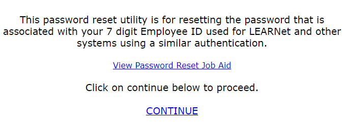 cvs learnet forgot password step 1